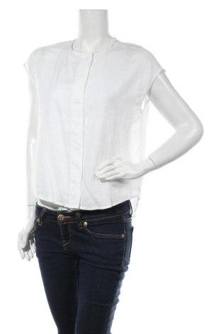 Дамска риза Mango, Размер XS, Цвят Бял, 55% лен, 45% вискоза, Цена 40,67лв.