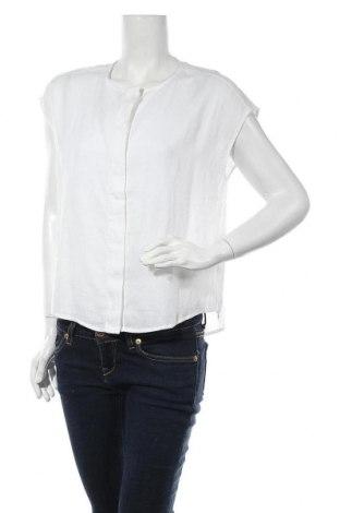 Дамска риза Mango, Размер S, Цвят Бял, 55% лен, 45% вискоза, Цена 28,22лв.