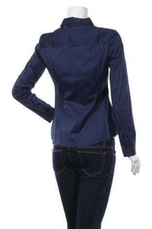 Дамска риза Mango, Размер M, Цвят Син, 60% памук, 35% полиестер, 5% еластан, Цена 26,55лв.