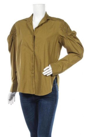 Дамска риза Mango, Размер S, Цвят Зелен, Памук, Цена 24,30лв.
