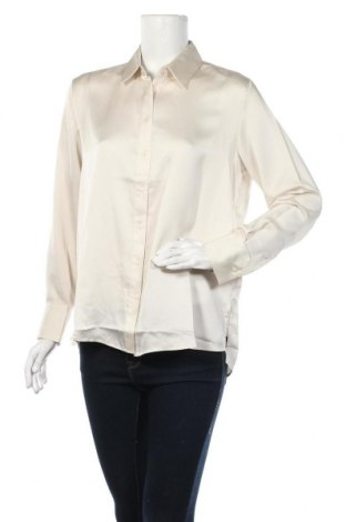 Дамска риза Mango, Размер M, Цвят Екрю, 100% полиестер, Цена 27,60лв.