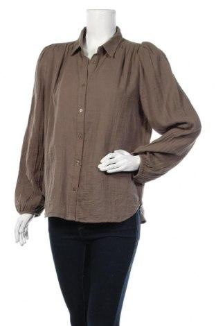 Дамска риза Mbym, Размер L, Цвят Сив, 100% памук, Цена 30,02лв.