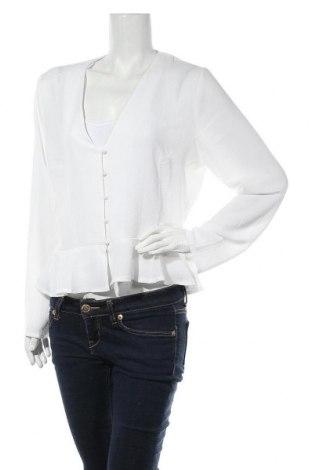 Дамска риза Missguided, Размер XL, Цвят Бял, 95% полиестер, 5% еластан, Цена 19,78лв.