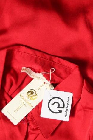Дамска риза New Laviva, Размер M, Цвят Червен, 65% памук, 35% полиестер, Цена 20,65лв.