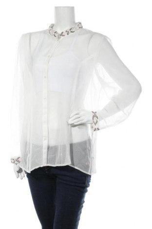 Дамска риза Nitya, Размер XL, Цвят Бял, Полиестер, Цена 66,75лв.