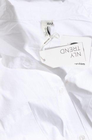 Дамска риза Nly Trend, Размер XS, Цвят Бял, Памук, Цена 23,40лв.