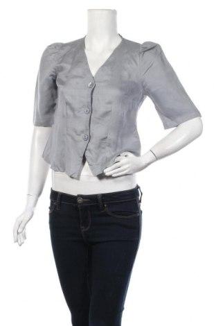 Дамска риза Oysho, Размер M, Цвят Сив, 59% лен, 41% вискоза, Цена 28,60лв.