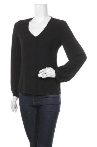 Дамска риза Pieces, Размер XS, Цвят Черен, Полиестер, Цена 18,90лв.