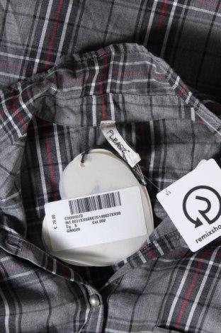 Дамска риза Please, Размер S, Цвят Сив, 59% полиестер, 40% памук, 1% еластан, Цена 38,15лв.