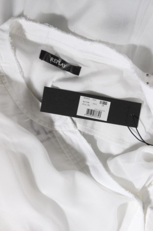 Дамска риза Replay, Размер XL, Цвят Бял, Вискоза, Цена 58,05лв.