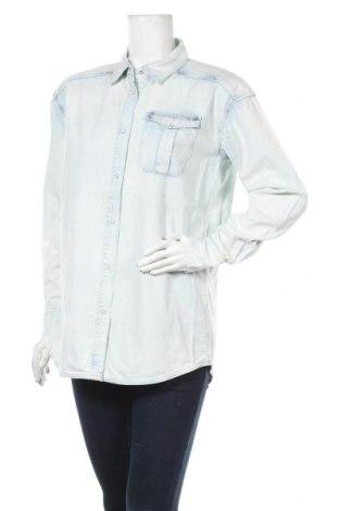 Дамска риза Silvian Heach, Размер S, Цвят Син, Памук, Цена 42,56лв.