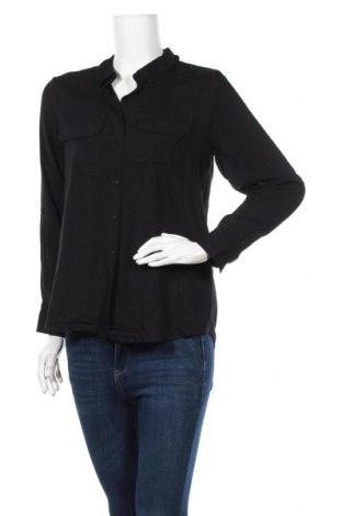 Γυναικείο πουκάμισο Soya Concept, Μέγεθος S, Χρώμα Μαύρο, Βισκόζη, Τιμή 8,51€