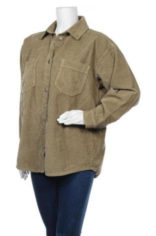 Дамска риза Topshop, Размер S, Цвят Зелен, Памук, Цена 25,08лв.
