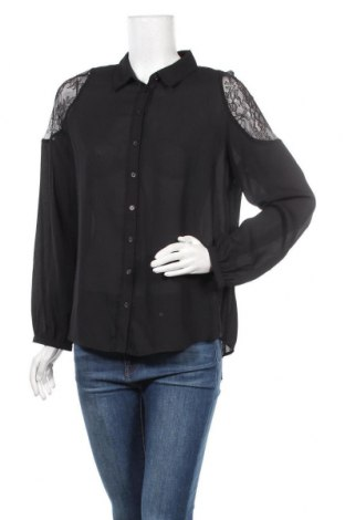 Дамска риза Un Deux Trois, Размер M, Цвят Черен, Полиестер, Цена 43,86лв.