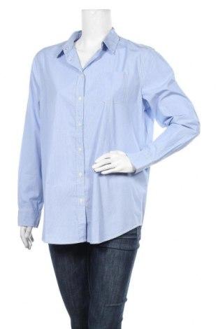 Дамска риза United Colors Of Benetton, Размер L, Цвят Син, Полиуретан, Цена 24,15лв.