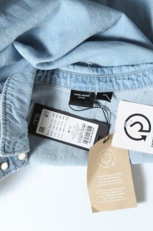 Дамска риза Vero Moda, Размер M, Цвят Син, Памук, Цена 17,28лв.