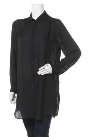 Дамска риза Vila, Размер M, Цвят Черен, Полиестер, Цена 20,65лв.