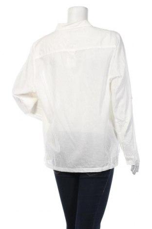 Дамска риза Violeta by Mango, Размер XXL, Цвят Бял, Памук, Цена 26,55лв.