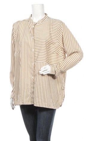 Γυναικείο πουκάμισο Vrs Woman, Μέγεθος XXL, Χρώμα  Μπέζ, Πολυεστέρας, Τιμή 4,09€