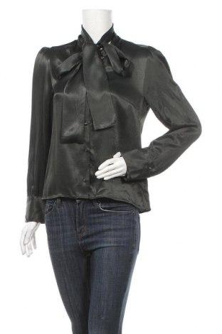 Дамска риза Zara, Размер M, Цвят Зелен, Вискоза, Цена 36,75лв.