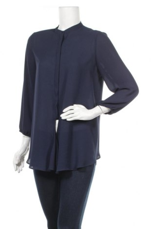 Дамска риза Zara, Размер L, Цвят Син, Полиестер, Цена 16,32лв.