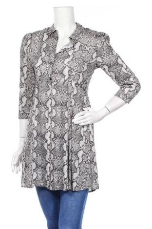 Дамска риза Zara, Размер M, Цвят Сив, Цена 23,12лв.
