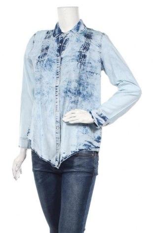 Дамска риза Zibi London, Размер L, Цвят Син, Памук, Цена 42,00лв.