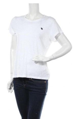 Дамска тениска Abercrombie & Fitch, Размер L, Цвят Бял, 60% памук, 40% вискоза, Цена 57,27лв.