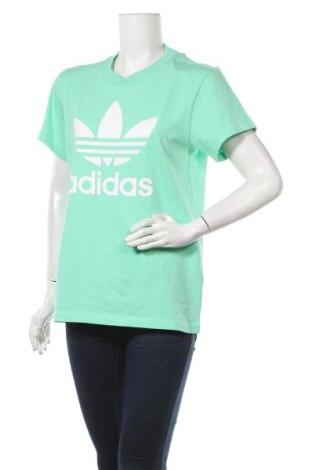 Дамска тениска Adidas Originals, Размер XS, Цвят Син, Памук, Цена 51,75лв.
