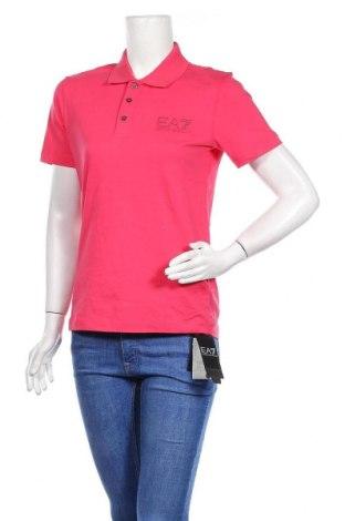 Дамска тениска Emporio Armani, Размер S, Цвят Розов, Памук, Цена 169,00лв.