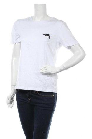 Дамска тениска Even&Odd, Размер L, Цвят Бял, Памук, Цена 28,00лв.