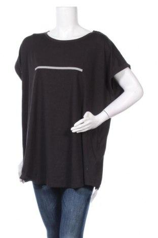 Дамска тениска Even&Odd, Размер L, Цвят Черен, 80% памук, 20% полиестер, Цена 28,00лв.