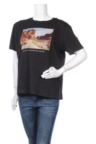 Дамска тениска Even&Odd, Размер XL, Цвят Черен, Памук, Цена 18,00лв.