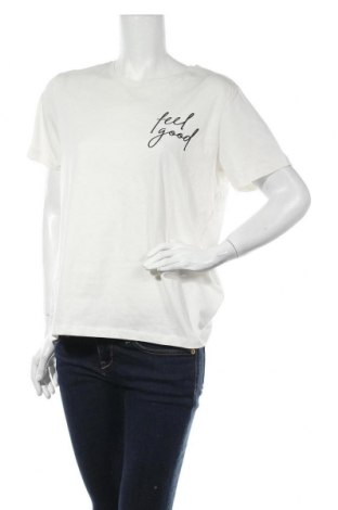 Дамска тениска Even&Odd, Размер XL, Цвят Бял, Памук, Цена 24,00лв.