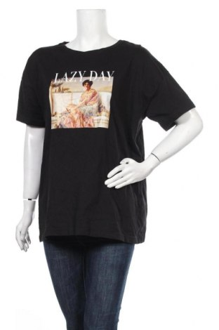 Дамска тениска Even&Odd, Размер XL, Цвят Черен, Памук, Цена 22,10лв.