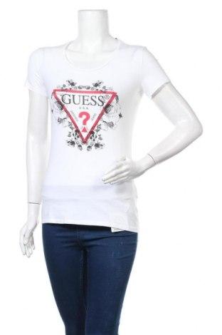 Дамска тениска Guess, Размер M, Цвят Бял, 95% памук, 5% еластан, Цена 71,20лв.