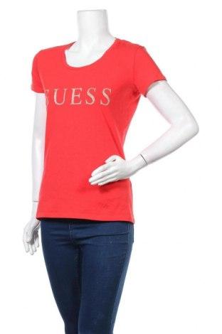Дамска тениска Guess, Размер M, Цвят Червен, 95% памук, 5% еластан, Цена 71,20лв.