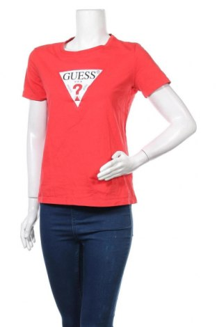 Дамска тениска Guess, Размер M, Цвят Червен, Цена 40,67лв.