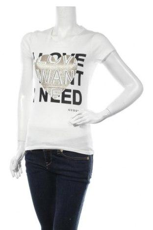 Дамска тениска Guess, Размер XS, Цвят Бял, Памук, Цена 53,82лв.