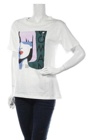 Дамска тениска Jacqueline De Yong, Размер XS, Цвят Бял, Памук, Цена 23,00лв.
