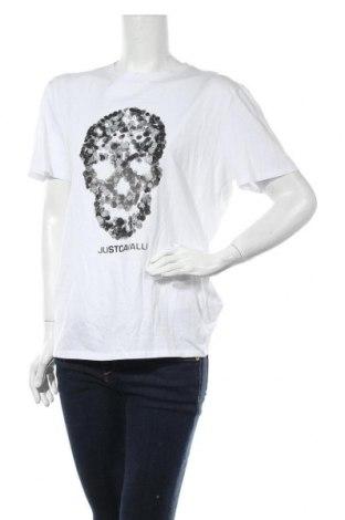 Γυναικείο t-shirt Just Cavalli, Μέγεθος M, Χρώμα Λευκό, Βαμβάκι, Τιμή 67,95€
