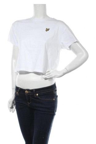 Дамска тениска Lyle & Scott, Размер M, Цвят Бял, Памук, Цена 27,60лв.