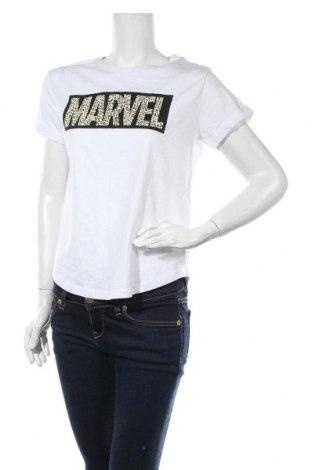Дамска тениска Marvel, Размер S, Цвят Бял, Памук, Цена 28,00лв.