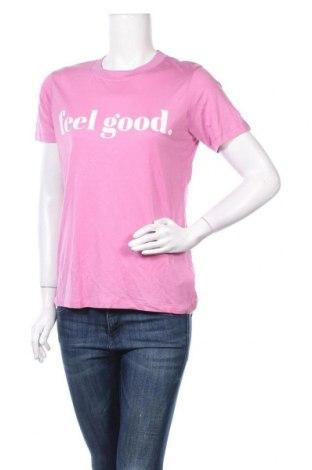 Дамска тениска Mbym, Размер S, Цвят Розов, Лиосел, Цена 21,58лв.