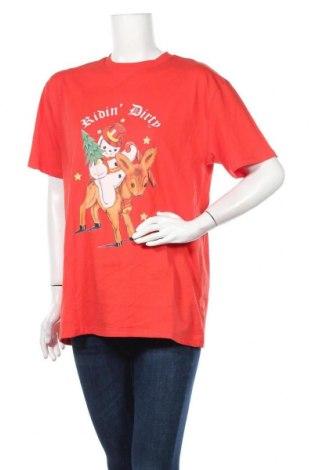 Дамска тениска NEW girl ORDER, Размер M, Цвят Червен, Памук, Цена 28,90лв.