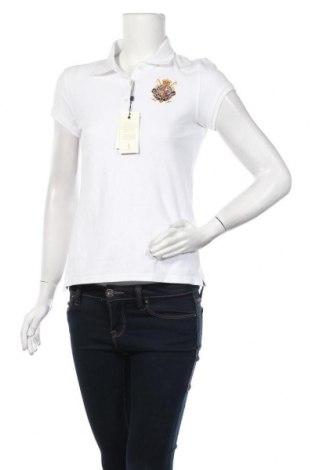 Дамска тениска Polo Club, Размер M, Цвят Бял, Памук, Цена 39,00лв.