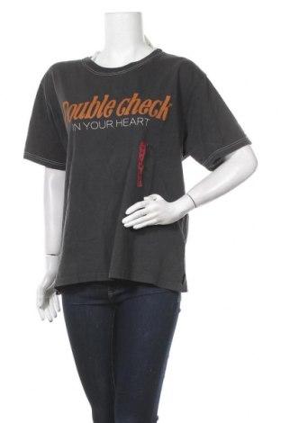 Дамска тениска Pull&Bear, Размер M, Цвят Сив, Памук, Цена 21,58лв.