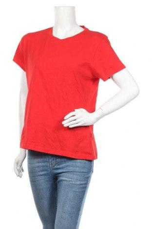 Дамска тениска Samsoe & Samsoe, Размер L, Цвят Червен, 100% памук, Цена 16,50лв.