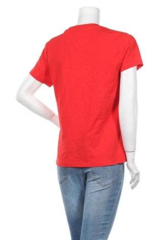 Дамска тениска Samsoe & Samsoe, Размер L, Цвят Червен, 100% памук, Цена 51,48лв.