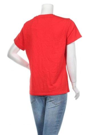 Дамска тениска Samsoe & Samsoe, Размер XL, Цвят Червен, 100% памук, Цена 51,48лв.